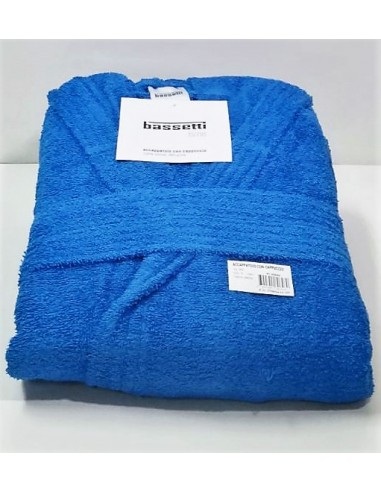 Accapatoio Bassetti con Cappuccio in Spugna - Colore: Azzurro