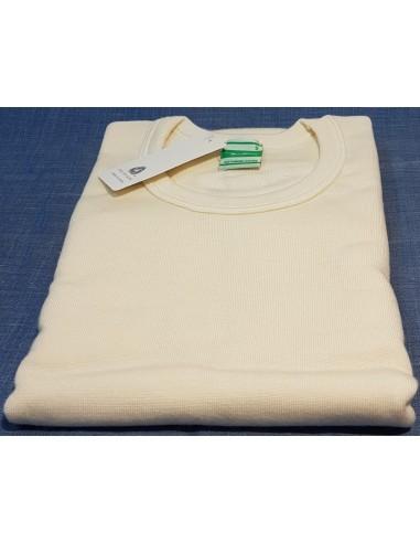 Maglia uomo manica corta invernale   lana 80%  Madiva Vesuvio    colore  bianco