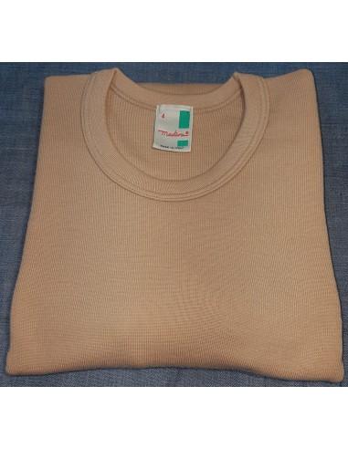 Maglia uomo manica lunga invernale   lana 80%  Madiva Capri   colore  noce