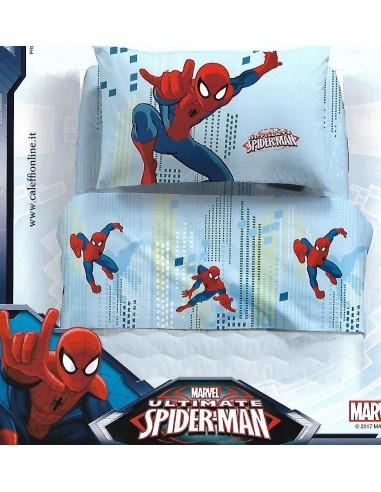 Completo Letto una piazza e mezza   Caleffi  Spider man  Manhattan